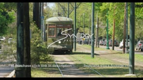1084 New Orleans streetcar stock video