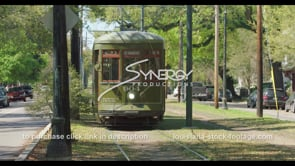 1082 Nice New Orleans streetcar stock footage video
