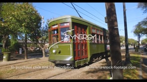 1079 New Orleans streetcar drives by