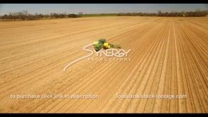 686 Nice drone aerial farmer planting seeds