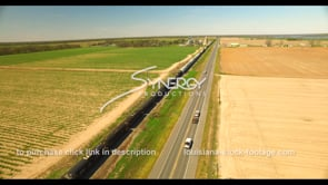 695 Freight train delivering goods across amerca