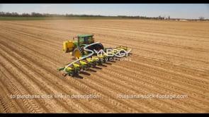 697 Nice aerial view john deere tractor planting crops