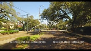 1070 driving St Charles street in New Orleans
