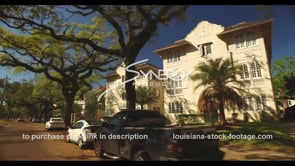 1068 driving down St Charles Ave in New Orleans stock footage video