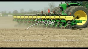 699 CU tractor planting crops in springtime