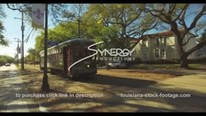 1065 New Orleans streetcar video stock footage
