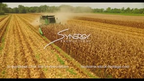 1053 corn harvesting farm agriculture drone aerial stock footage