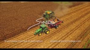 1052 nice harvesting corn drone aerial