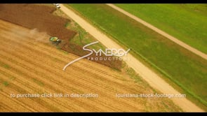 1041 corn field harvest drone aerial view