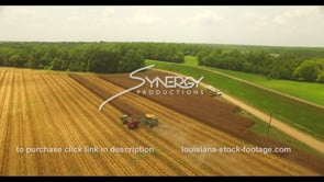 1039 Louisiana corn field harvest stock footage video
