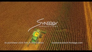1036 birds eye view of corn harvest drone aerial stock footage video