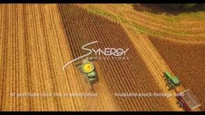 1034 corn harvesting stock footage video aerial overhead view