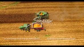 1033 epic corn harvest shot aerial drone boom up video
