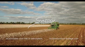 906 Epic awesome cotton harvesting blue sky