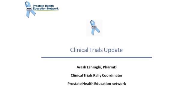 Clinical Trials Update with Dr. Arash Eshraghi
