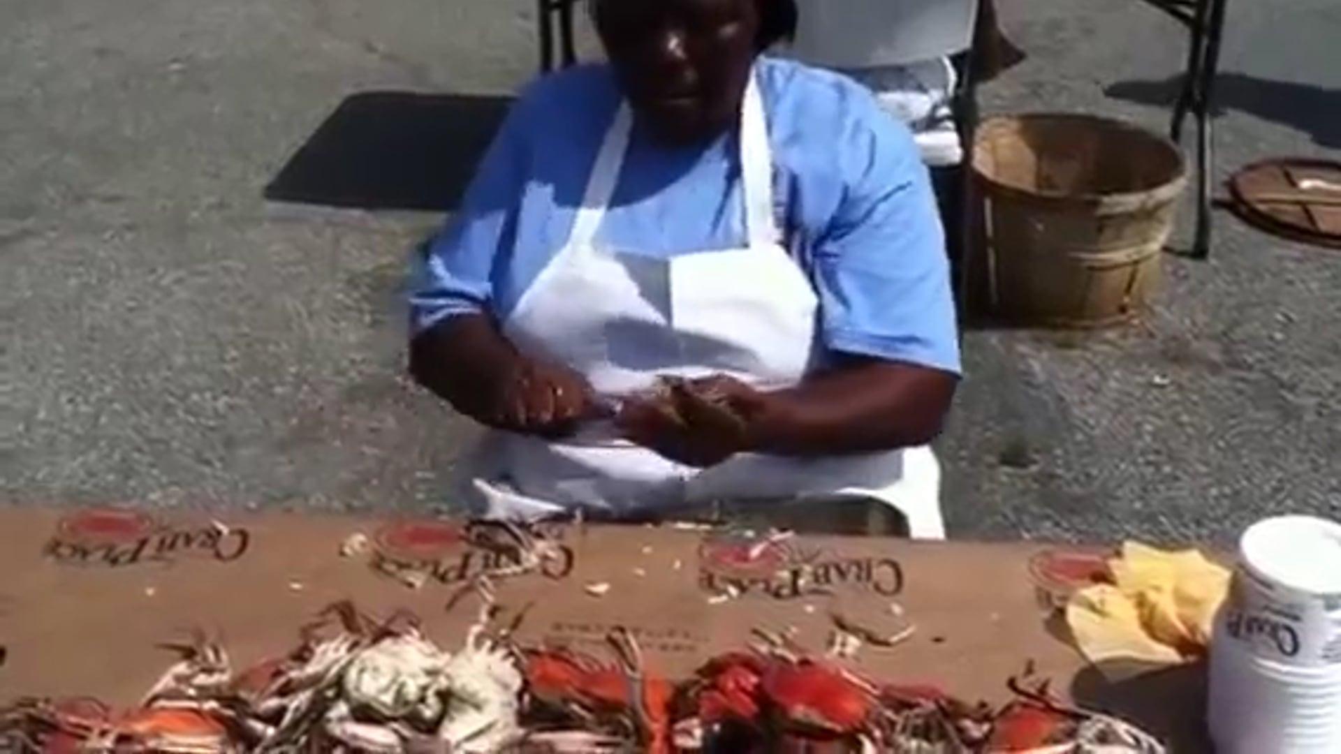 Hurricane Hazel at the National Hard Crab Derby Crab Pickin' Contest