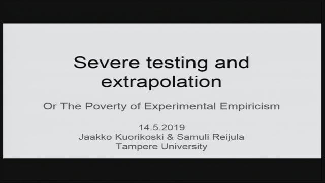 5. Dr. Samuli Reijula: The problem of extrapolation