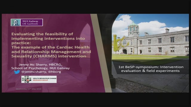 11 Dr. Jennifer Mc Sharry: Evaluating the feasibility of implementing interventions into practice: the example of the Cardiac He