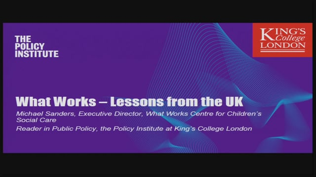 2. KEYNOTE: Dr. Michael Sanders: Practical Science - how we bring rigour into the evaluation of policy