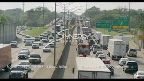 431 interstate 10 traffic in Baton Rouge stock video