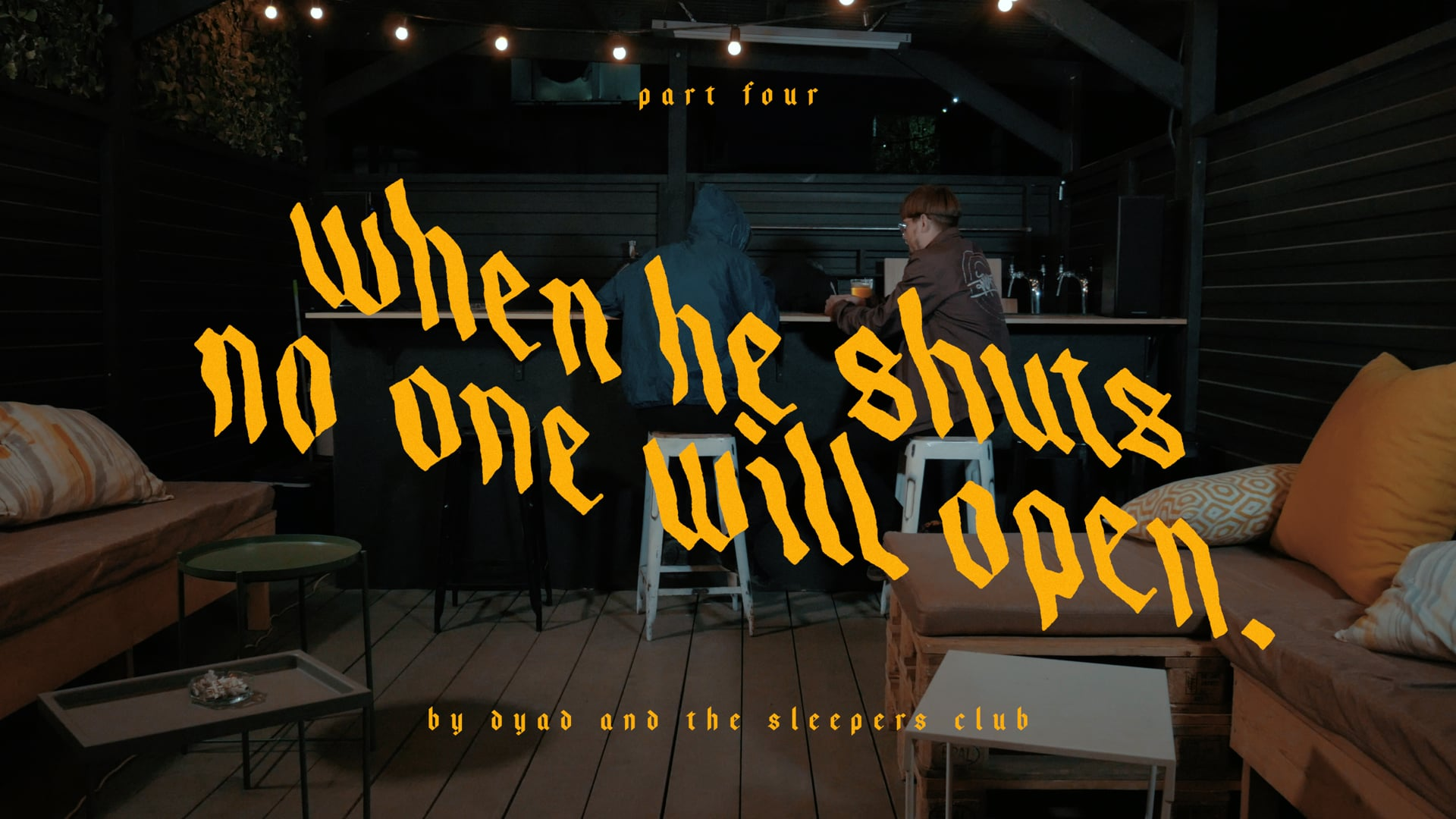 Part IV. When He Shuts No One Will Open.