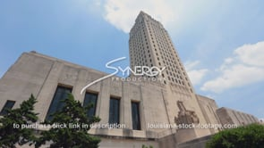 003 Louisiana state capitol time lapse low angle
