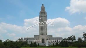 004 Louisiana state capitol time lapse wide shot