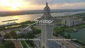 005 Epic aerial drone arc into Louisiana State capital