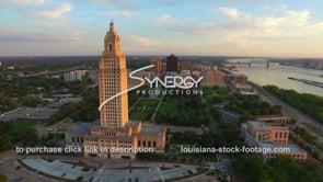 007 aerial arc left Louisiana State Capitol