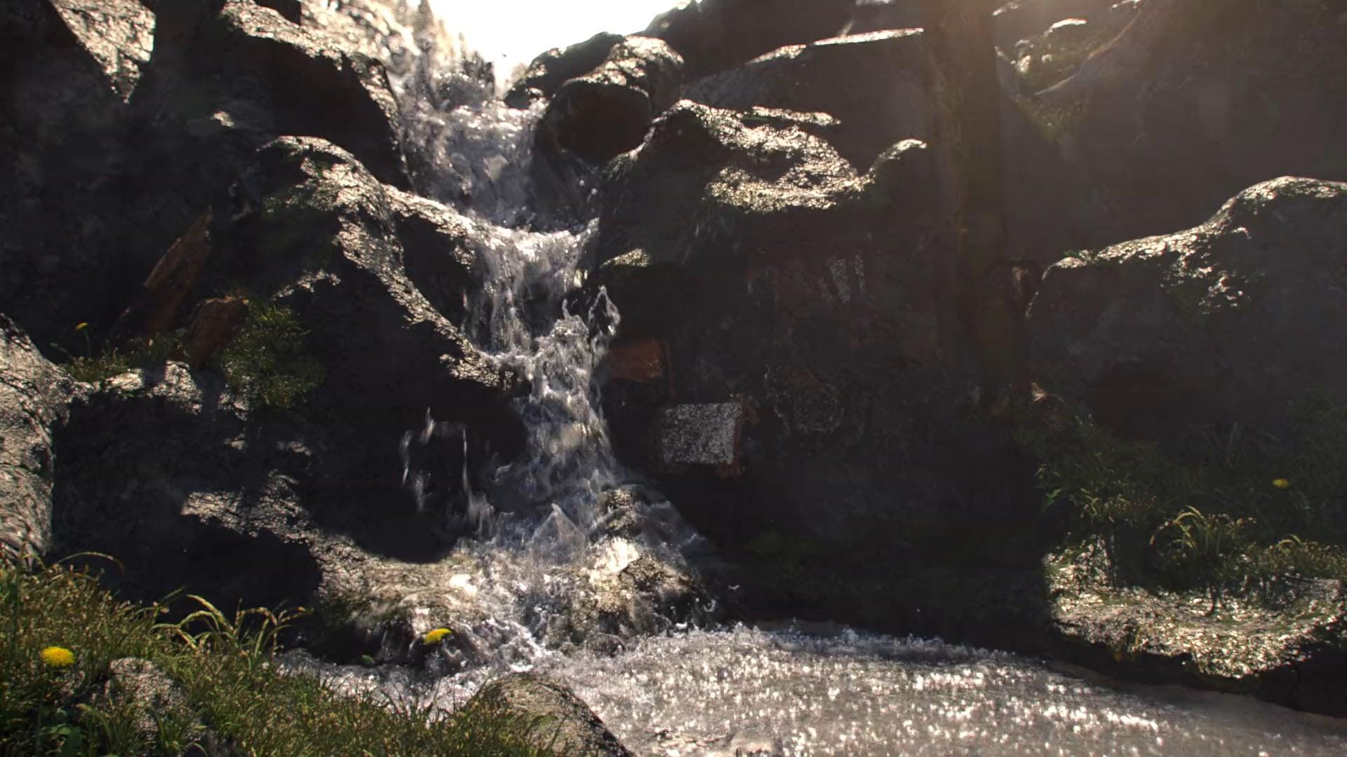 Waterfall - Houdini, Renderman, Nuke