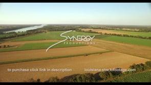 855 Super epic sugarcane field harvest aerial drone ascent