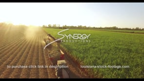 861 sugarcane harvesting aerial drone descent