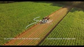 874 epic sugarcane harvest aerial drone extreme angle stock footage