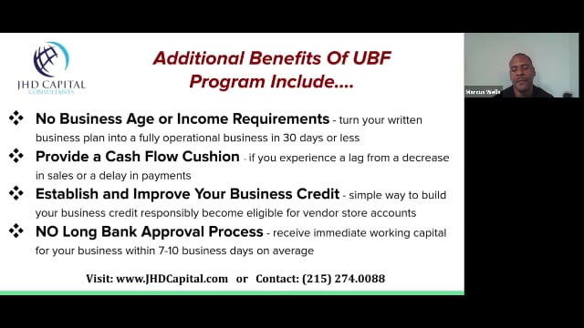 Unsecured Business Funding Program Benefits