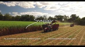 876 Epic sugarcane harvesting aerial drone arc left
