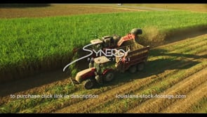 888 Awesome aerial ascent harvesting sugarcane aerial drone video stock footage