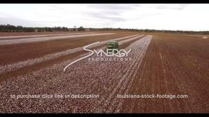 891 Cotton agricultural farm landscape epic aerial drone
