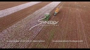 893 Epic aerial view cotton harvest