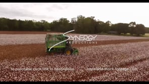 894 Epic awesome aerial arc farmer harvesting cotton
