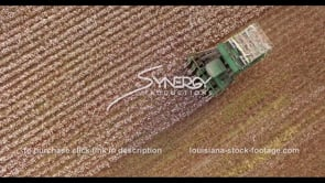 895 cotton harvest epic overhead aerial view