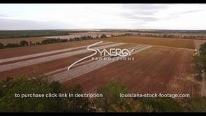900 Epic cinematic drone descent into cotton farm harvest stock video footage
