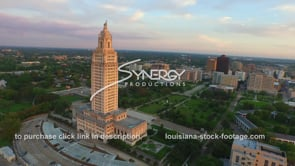 020 Louisiana state capital baton rouge downtown skyline in background aerial drone view