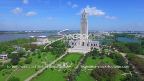024 super awesome drone aerial of louisiana state capital daytime view