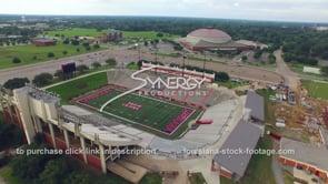 026 nice aerial drone view arc cajun field football stadium Lafayette Louisiana