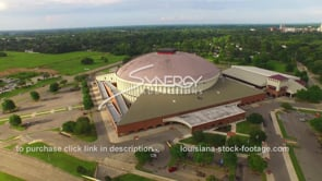 029 Nice aerial drone view cajun dome dolly in lafayette louisiana