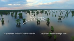 038 epic awesome aerial drone shot atchafalaya basin swamp dolly out 2 at sunset