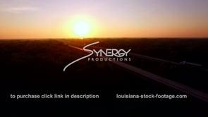 042 Henderson swamp bridge interstate 10 aerial drone at morning sunrise