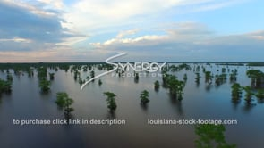 043 epic awesome beautiful aerial drone shot atchafalaya basin swamp dolly in at sunset
