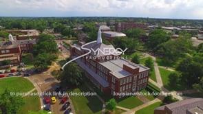 045 Epic aerial of Louisiana Tech university college
