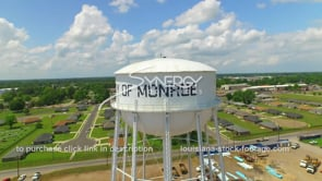048 Nice aerial drone monroe louisiana water tower dolly right